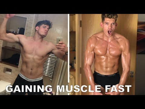Gaining 20+ lbs of Muscle Fast   How To & My Goals. (видео)