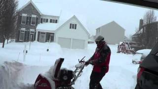 3. Diggin' out - Honda 928 - 26 inches of snow