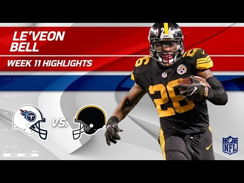 Video: Le'Veon Bell's Big Game w/ 103 Total Yards! | Titans vs. Steelers | Wk 11 Player Highlights