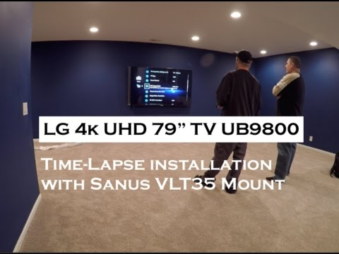 LG Electronics 79UB9800 79-Inch 4K Ultra HD 240Hz 3D LED TV TIME-LAPSE INSTALL