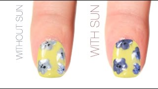 Spring Floral Color-Changing Nail Art Design