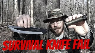 Survival Knife Fail And Woods Walk