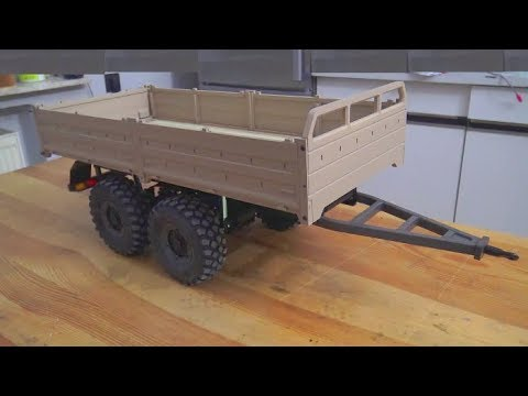 CROSS RC T 003! BUILD A HYDRAULIC TIPP TRAILER! RC LIVE ACTION SPECIAL MODEL BUILD SCALE 1/12