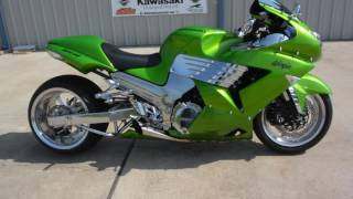 8. 2009 Kawasaki ZX-14 With 330 Fat Rear Tire Overview and Review