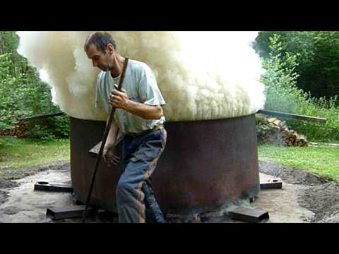 Charcoal production in the vertical retort,...