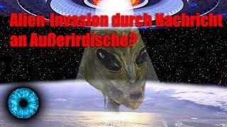 Forscherinnen und Forscher befürchten eine Alien/Außerirdische Invasion, wenn Douglas Vakoch seine Meti-Projekt (Messaging...