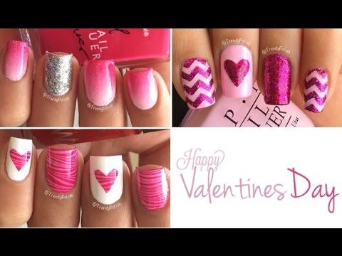 Valentine's Day Nail Art | Three Designs!