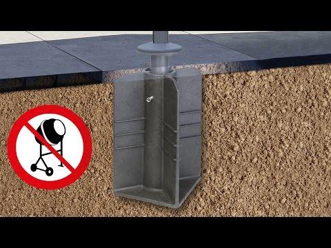 Schirmständer zum Eingraben für Ampelschirme und Freiarmschirme von Platinum