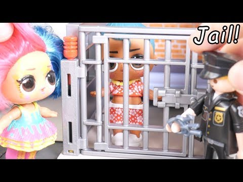 LOL Surprise Dolls Boys Visit Playmobil Jail + Wedding Routine