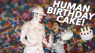 Video TURNED INTO A HUMAN BIRTHDAY CAKE  | Ranz and Niana MP3, 3GP, MP4, WEBM, AVI, FLV Februari 2019