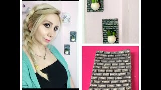 DIY Mini Rock Cactus and Stone Wall / Minikaktus und Steinmauer / Kaktüs ve Taş Duvar