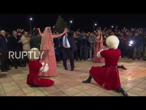 Russia: New UFC champ Nurmagomedov greeted with dancing in Makhachkala
