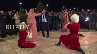 Video Russia: New UFC champ Nurmagomedov greeted with dancing in Makhachkala MP3, 3GP, MP4, WEBM, AVI, FLV Desember 2018