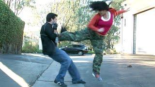 Taekwondo Girl vs Boxing Guy | Martial Arts Action Scene