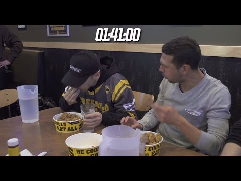 NEW - The world's greatest competitive eater Takeru Kobayashi goes undercover at Buffalo Wild Wings in Westbury, NY, while rocking a Divergent cap, as he pranks th...