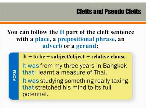pseudo cleft and it cleft sentences essay