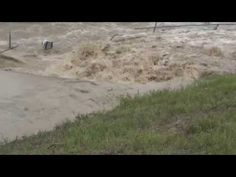 Calgary Flood, June 21, 2013.  Southland Dog Park.  Deerfoot and Southland.