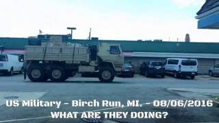 Birch Run (MI) United States  city pictures gallery : US ARMY Heavy Military Convoy - Birch Run, MI USA - 08/06/2016 Raw Footage! WTF?