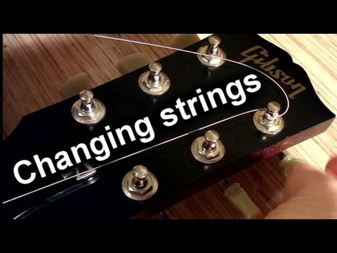 How To Change Strings On An Electric Guitar – How To Put New Strings (re string a guitar)