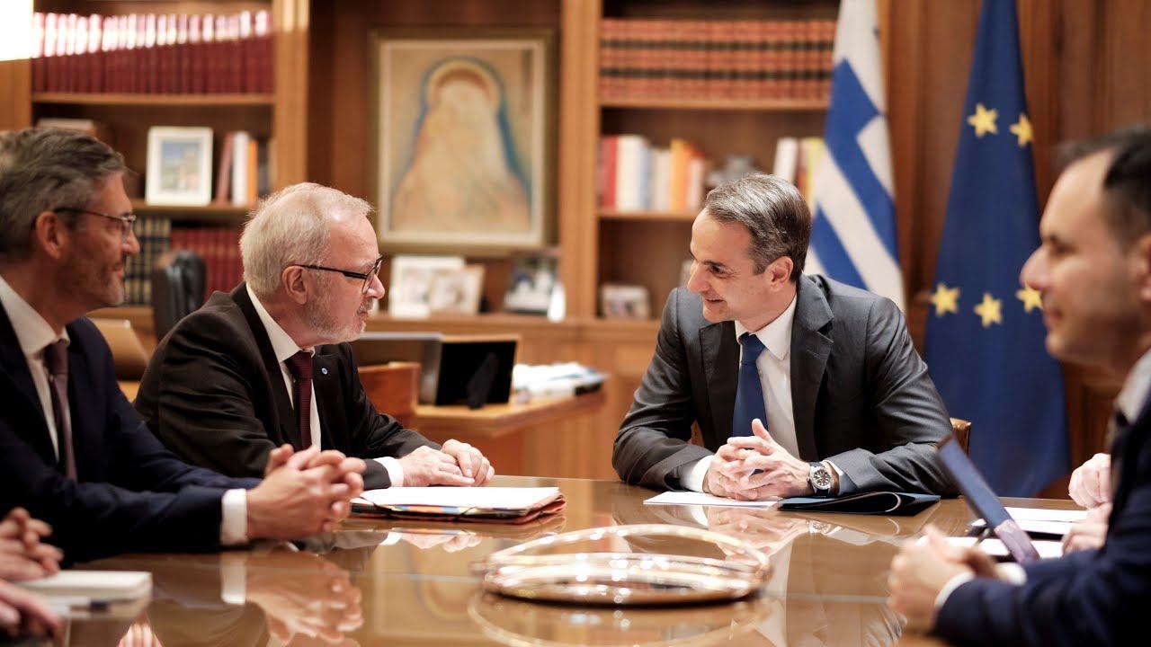 Συνάντηση Κ. Μητσοτάκη με τον Πρόεδρο της Ευρωπαϊκής Τράπεζας Επενδύσεων (ΕΤΕπ) Werner Hoyer