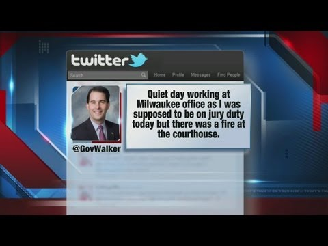 Gov. Walker kept from reporting for jury duty
