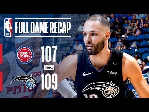 Video: Full Game Recap: Pistons vs Magic | Fournier Wins It At The Buzzer