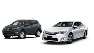 2013 Toyota RAV4 XLE, And 2014 Toyota Camry XLE Test Drive