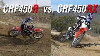 9. 2017 Honda CRF450R VS. CRF450RX