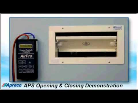 APS opening and closing demonstration