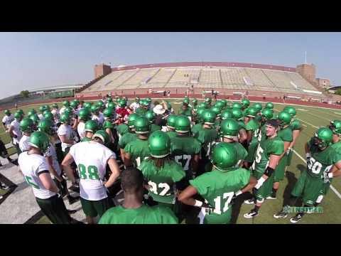 UND football – 2014 First Practice Highlights