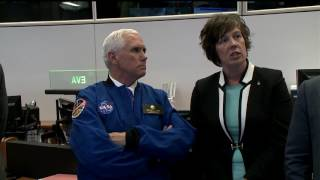 Vice President Pence Tours NASA's Historic Mission Control in Houston by NASA