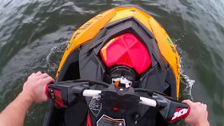 4. Stock 2018 Sea Doo Spark Trixx POV! Top Speed, Wavies, 180s and more.