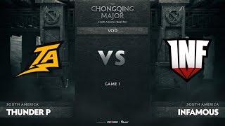 Thunder Predator vs Infamous, Game 1, SA Qualifiers The Chongqing Major