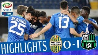 Serie A, highlights Hellas Verona-Sassuolo 0-1