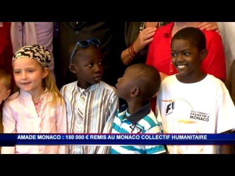 L'AMADE Monaco offre un chèque de 150 000 euros au Monaco Collectif Humanitaire