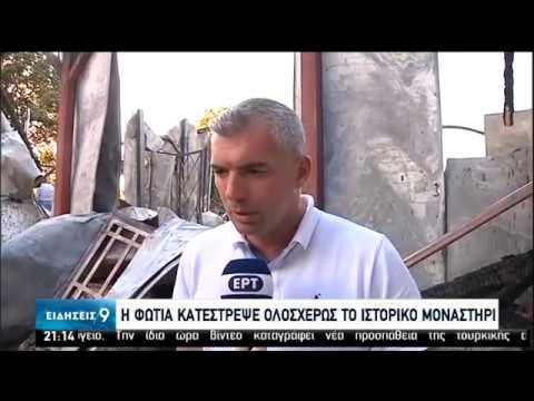 Πυρκαγιά στη Μονή Βαρνάκοβας Φωκίδας | 15/06/2020 | ΕΡΤ