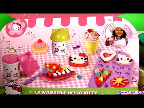 Play Doh Hello Kitty Pastry Shop Donuts Ice Cream Cupcakes La Pâtisserie Mallette  ハローキティ