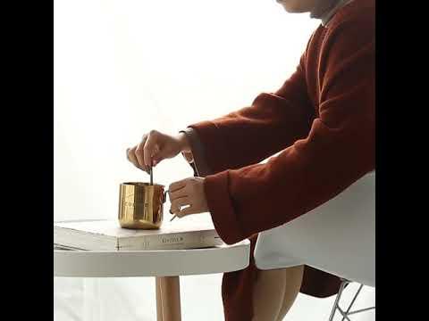 Retro Golden Coffee Mug