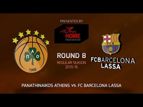 Highlights: RS Round 8, Panathinaikos Athens vs. FC Barcelona Lassa