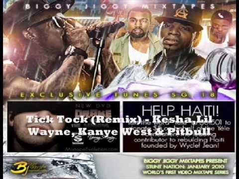Tick Tock Remix - kesha Feat. Lil Wayne, Kanye West & Pitbull