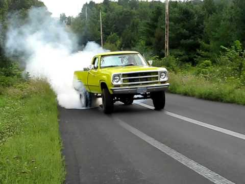 Burnin' some rubber on backroads