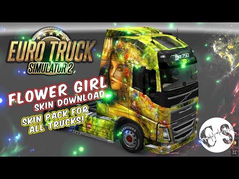 Flower Girl Skin Pack for All Trucks + Volvo Ohaha