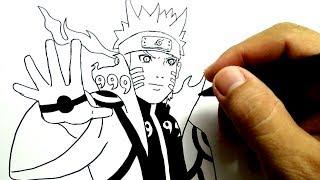 cara menggambar naruto kyubi gampang bangettt / how to draw naruto kyubi mode