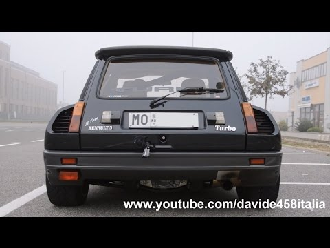 renault 5 maxi turbo: launch, flames & sound
