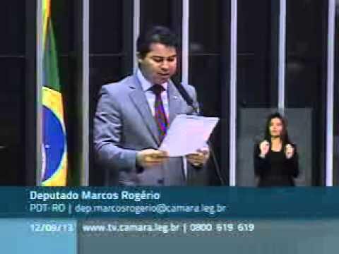 Dep. Marcos Rogério cobra início das obras de dragagem no Rio Madeira durante discurso em plenário