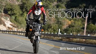 4. 2015 Yamaha FZ-07 - Sport Twins Shootout Part 3 - MotoUSA