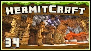 HermitCraft 4: Awesome Underground Base Hallways and Cave Designs