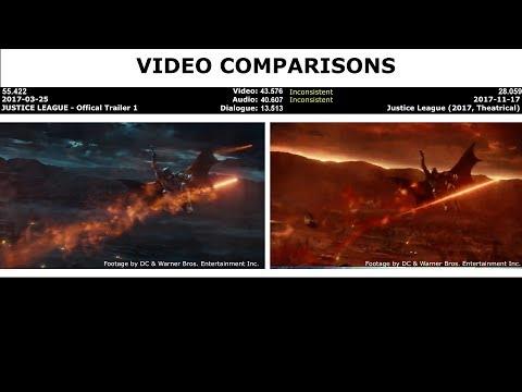 VIDEO COMPARISONS - JUSTICE LEAGUE - Official Trailer 1