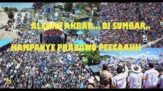 Video Allahu Akbar...Ratusan Ribu Rakyat Sumbar Menyambut PRABOWO (The next President of Indonesia) MP3, 3GP, MP4, WEBM, AVI, FLV Mei 2019