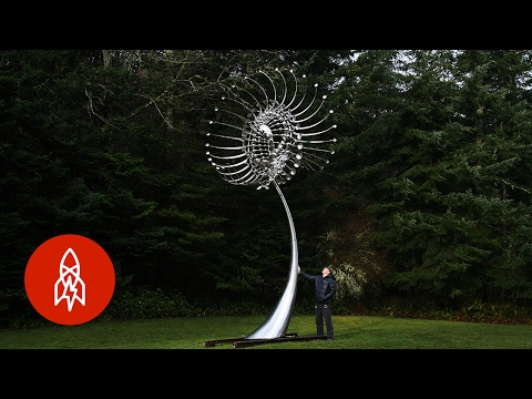 Beautiful Giant Kinetic Art Sculptures Powered by the